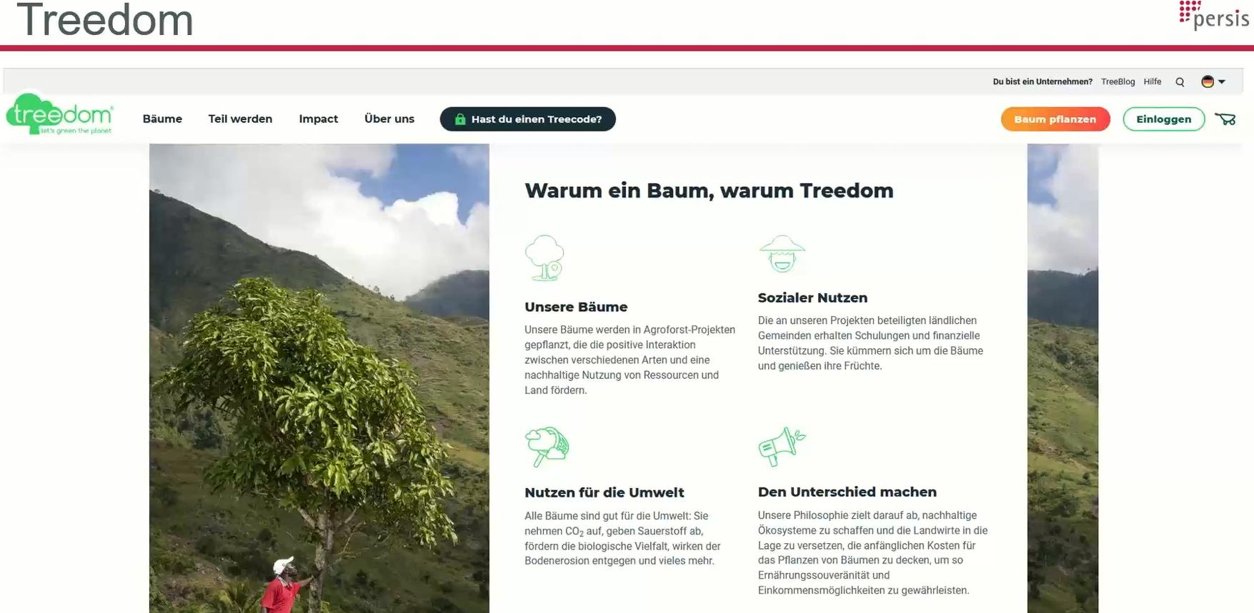 Persis pflanzt Bäume mit Treedom